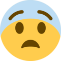 Fearful Face on Twitter Twemoji 13.0