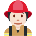 Firefighter: Light Skin Tone on Twitter Twemoji 13.0