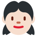 Girl: Light Skin Tone on Twitter Twemoji 13.0