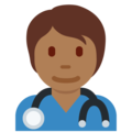 Health Worker: Medium-Dark Skin Tone on Twitter Twemoji 13.0