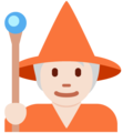 Mage: Light Skin Tone on Twitter Twemoji 13.0