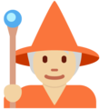 Mage: Medium-Light Skin Tone on Twitter Twemoji 13.0