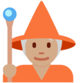 Mage: Medium Skin Tone on Twitter Twemoji 13.0