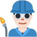 Man Factory Worker: Light Skin Tone on Twitter Twemoji 13.0