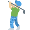Man Golfing: Medium-Light Skin Tone on Twitter Twemoji 13.0
