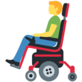 Man in Motorized Wheelchair on Twitter Twemoji 13.0