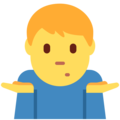 Man Shrugging on Twitter Twemoji 13.0
