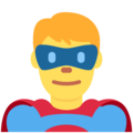 Man Superhero on Twitter Twemoji 13.0