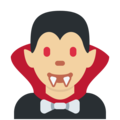 Man Vampire: Medium-Light Skin Tone on Twitter Twemoji 13.0