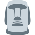 Moai on Twitter Twemoji 13.0