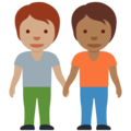 People Holding Hands: Medium Skin Tone, Medium-Dark Skin Tone on Twitter Twemoji 13.0