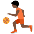 Person Bouncing Ball: Dark Skin Tone on Twitter Twemoji 13.0