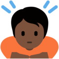 Person Bowing: Dark Skin Tone on Twitter Twemoji 13.0