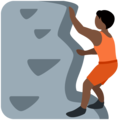 Person Climbing: Dark Skin Tone on Twitter Twemoji 13.0