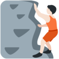 Person Climbing: Light Skin Tone on Twitter Twemoji 13.0