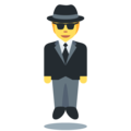 Person in Suit Levitating on Twitter Twemoji 13.0