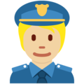 Police Officer: Medium-Light Skin Tone on Twitter Twemoji 13.0