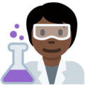 Scientist: Dark Skin Tone on Twitter Twemoji 13.0