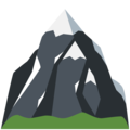 Snow-Capped Mountain on Twitter Twemoji 13.0