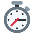 Stopwatch on Twitter Twemoji 13.0