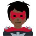 Supervillain: Dark Skin Tone on Twitter Twemoji 13.0