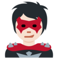 Supervillain: Light Skin Tone on Twitter Twemoji 13.0