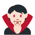 Vampire: Light Skin Tone on Twitter Twemoji 13.0