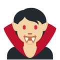 Vampire: Medium-Light Skin Tone on Twitter Twemoji 13.0