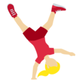 Woman Cartwheeling: Medium-Light Skin Tone on Twitter Twemoji 13.0