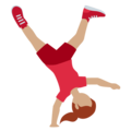 Woman Cartwheeling: Medium Skin Tone on Twitter Twemoji 13.0