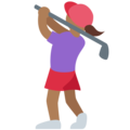 Woman Golfing: Medium-Dark Skin Tone on Twitter Twemoji 13.0
