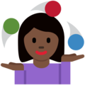 Woman Juggling: Dark Skin Tone on Twitter Twemoji 13.0
