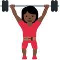 Woman Lifting Weights: Dark Skin Tone on Twitter Twemoji 13.0
