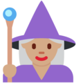 Woman Mage: Medium Skin Tone on Twitter Twemoji 13.0