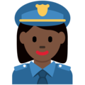Woman Police Officer: Dark Skin Tone on Twitter Twemoji 13.0