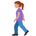 Woman Walking: Medium Skin Tone on Twitter Twemoji 13.0