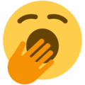 Yawning Face on Twitter Twemoji 13.0