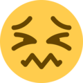 Confounded Face on Twitter Twemoji 13.0.1