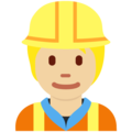 Construction Worker: Medium-Light Skin Tone on Twitter Twemoji 13.0.1