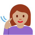 Deaf Woman: Medium Skin Tone on Twitter Twemoji 13.0.1