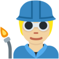 Factory Worker: Medium-Light Skin Tone on Twitter Twemoji 13.0.1