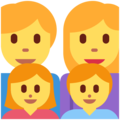 Family: Man, Woman, Girl, Boy on Twitter Twemoji 13.0.1