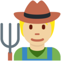 Farmer: Medium-Light Skin Tone on Twitter Twemoji 13.0.1