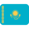 Flag: Kazakhstan on Twitter Twemoji 13.0.1