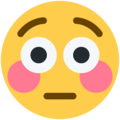 Flushed Face on Twitter Twemoji 13.0.1