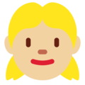 Girl: Medium-Light Skin Tone on Twitter Twemoji 13.0.1