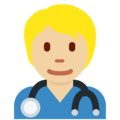 Health Worker: Medium-Light Skin Tone on Twitter Twemoji 13.0.1
