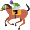 Horse Racing: Dark Skin Tone on Twitter Twemoji 13.0.1