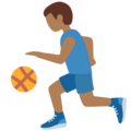 Man Bouncing Ball: Medium-Dark Skin Tone on Twitter Twemoji 13.0.1