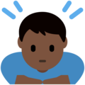 Man Bowing: Dark Skin Tone on Twitter Twemoji 13.0.1